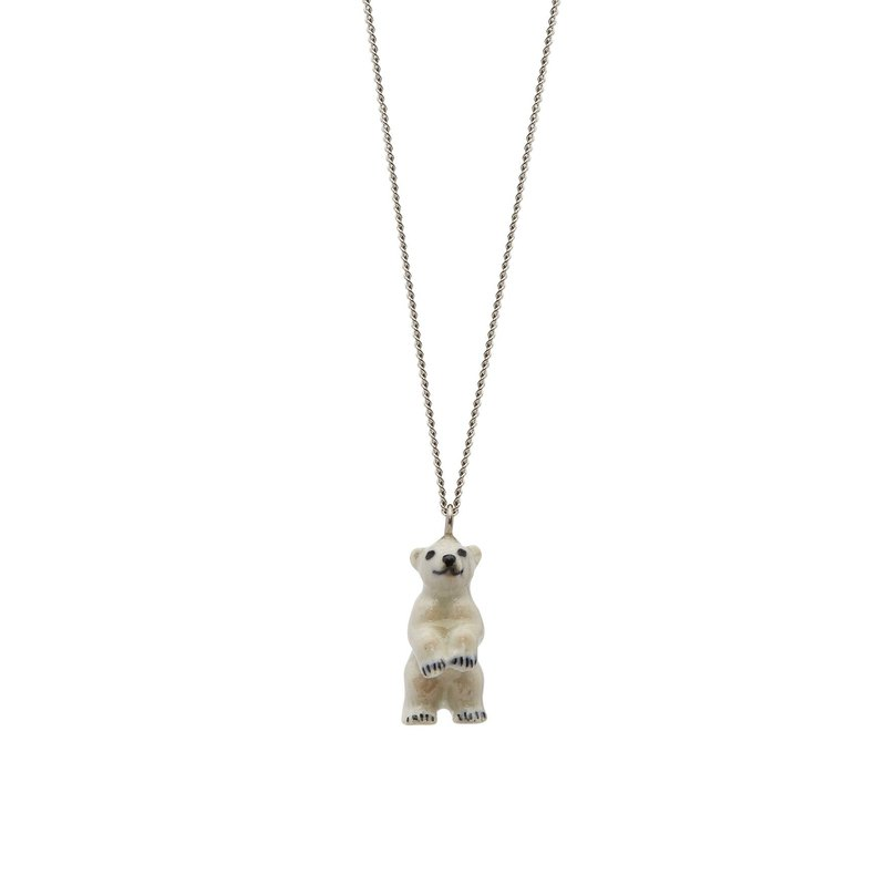 "And Mary Standing Polar Bear Necklace | 18""/22"" 