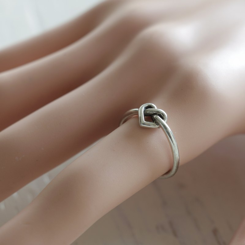 Heart love Knot Ring Promise凱爾特純銀925手工禮物送給她