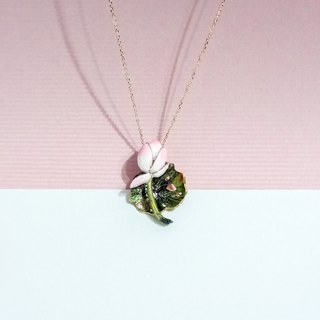Fragrance Series/Functional Jewelry 珐琅 Heart Lotus Necklace Fragrance Accessories Order Order