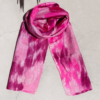 Tanabata gift limited a handmade wool felt scarf / wet felt scarf / watercolor art sense of scarf / wool gradient layer of scarf - bright watercolor rendering color