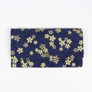 Red bag passbook cash storage bag - cherry blossom (blue)