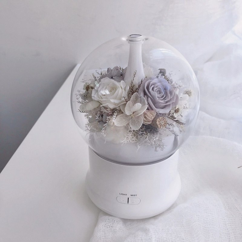 Eternal Flower Aromatherapy (White) Fragrance Essential Oil Night Lights Evergreen Flower Dry Flowers Christmas Gifts