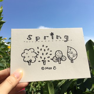 *Miss L hand-drawn postcard* Spring