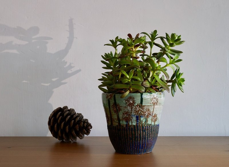 The second space of dandelion _ pottery flower potted plants