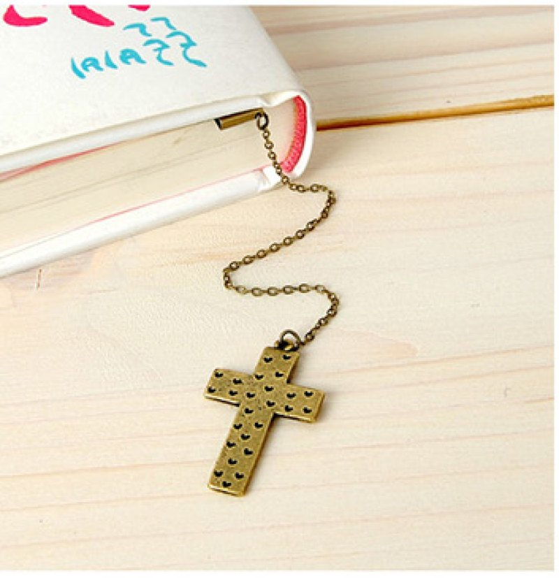 Cross heart Jesus bookmark