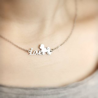 [Loveit] LOVE Stainless Steel Necklace