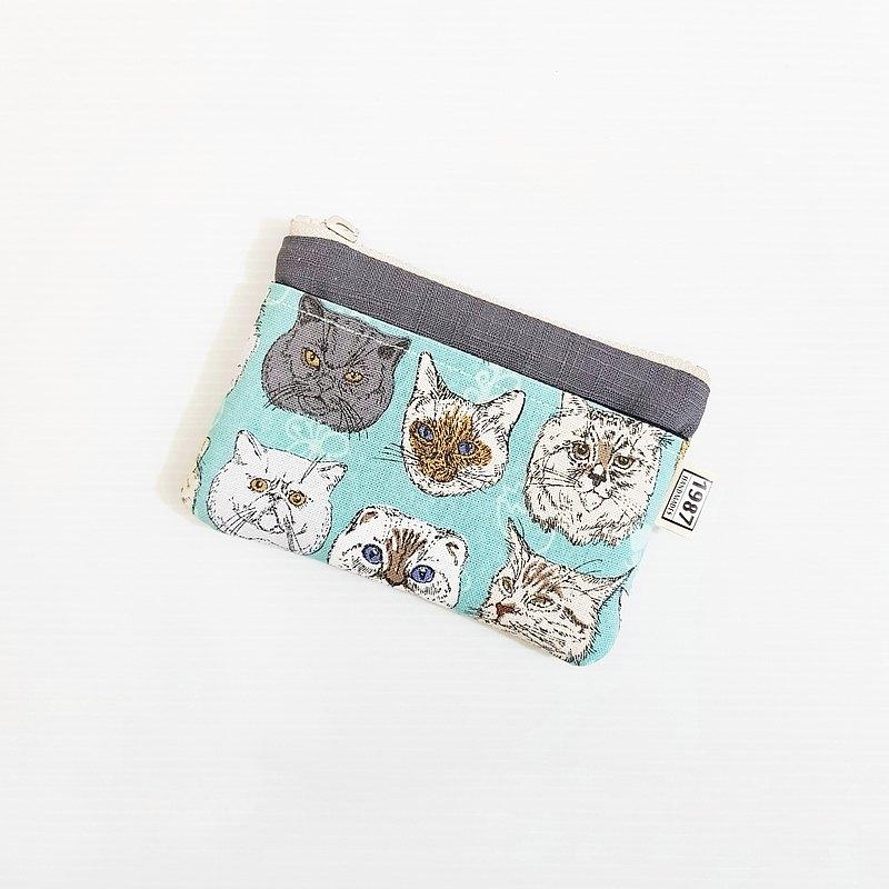 【皇上駕到(綠)-深灰】 貓系!!! 零錢包 手拿包 隨身包 拉鏈袋 聖誕禮物