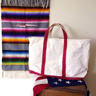 BajuTua / old US-made object / LLBean Boat and Tote King thick sails Bu Tuote Bag - Red