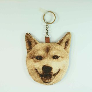 Shiba Inu embroidered key ring 02--