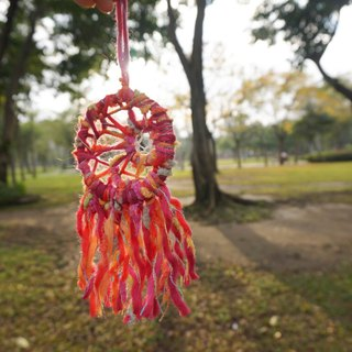 Handmade Dream catcher | Cherry Pink