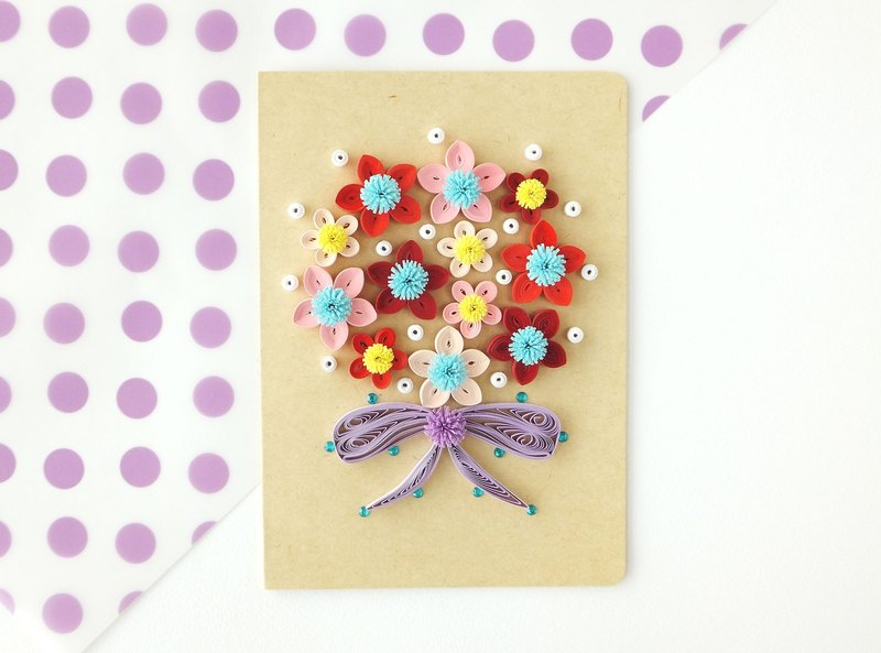Hand made decorative cards-bouquet