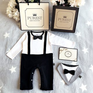 PUREST British gentleman little prince / long sleeve / baby gift set / newborn / Mi Yue gift preferred