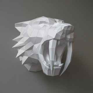 3D Paper Model_Sword-toothed tiger_DIY Kits_手作组合