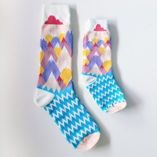 ▲ hill grass small clouds ▲ COMME MOI parent-child socks series (a pair of feet socks + a pair of feet socks): 500 gifts
