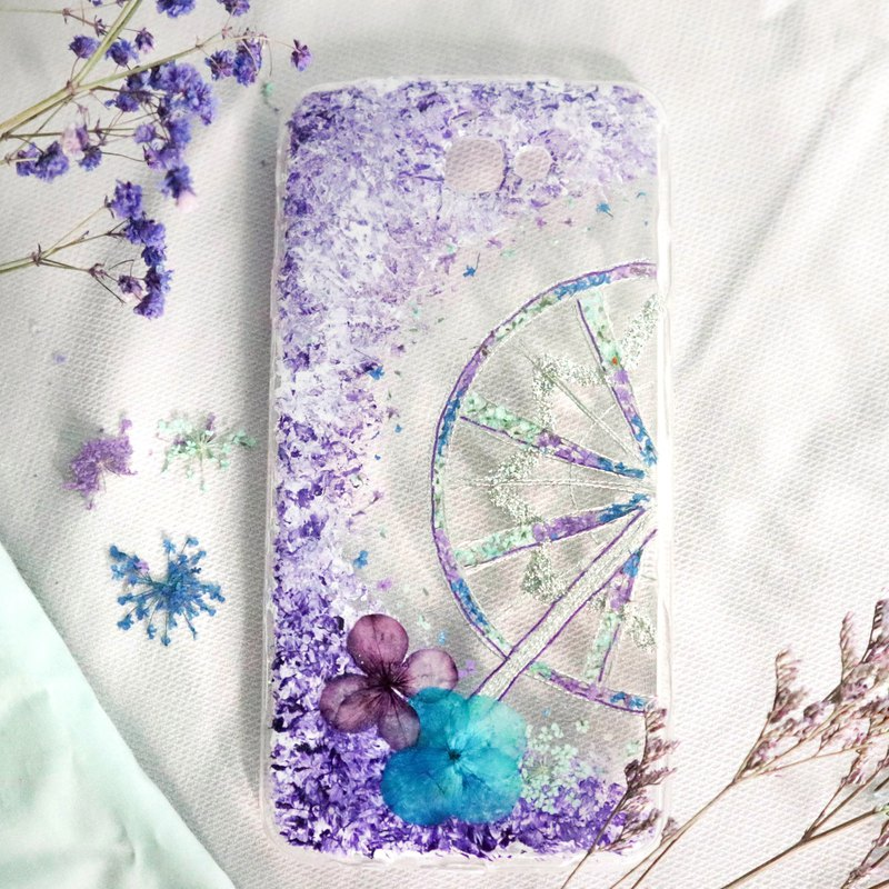 Pressed Flower Ferris Wheels Matching Phone Case | Android