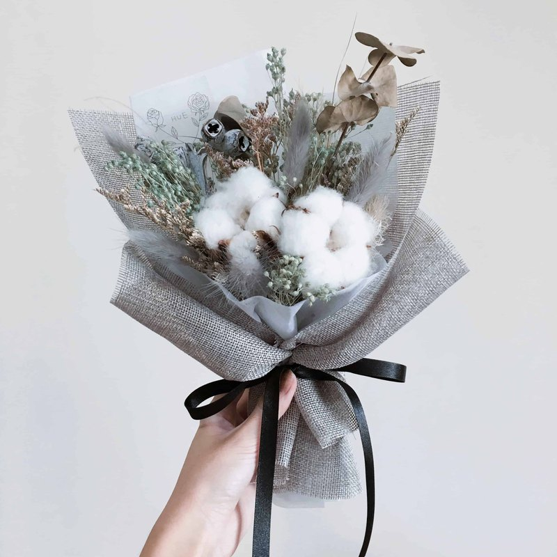 Dry bouquet [powder green wood full cotton - Evergreen holiday] net beauty flight attendant Apo same paragraph