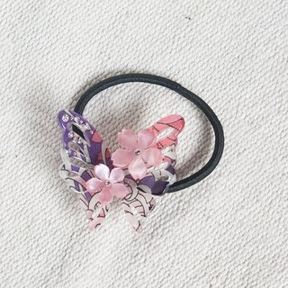 Foo autumn, butterfly hair bundle, hair ring - purple