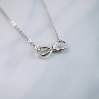 Hammered Infinity Necklace | 925 Sterling Silver