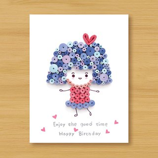 Handmade Roll Paper Card _ Happy Birthday_Girl_B..... Birthday Card, Valentine Card