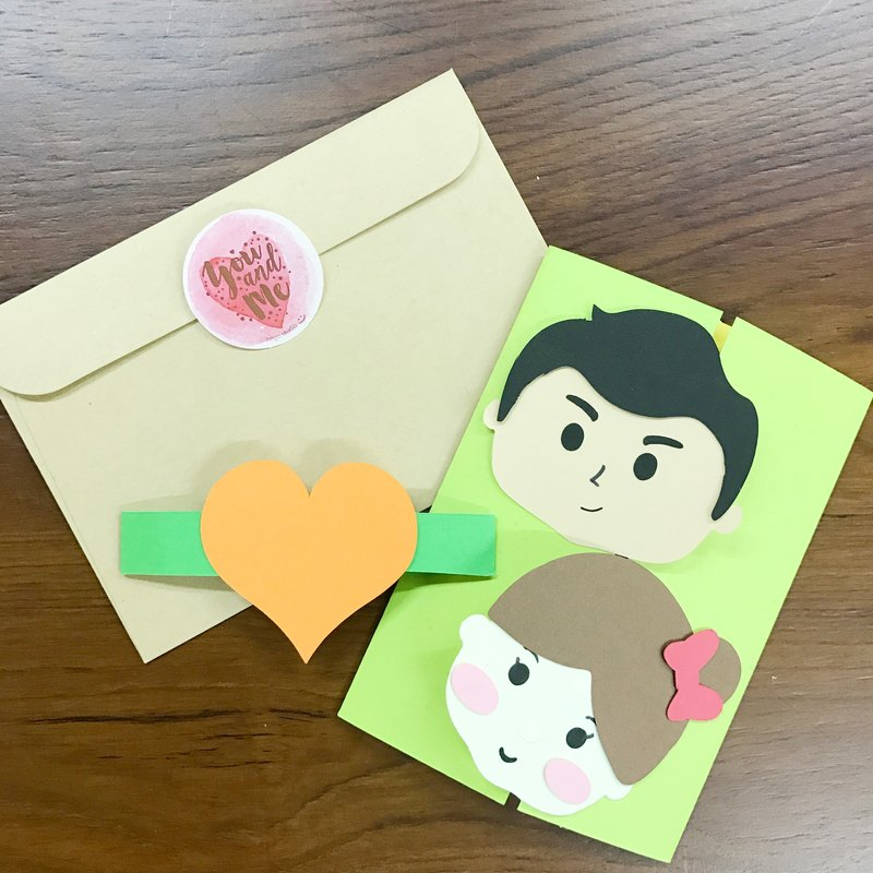 Exclusive Order - shutter Love card material package even one individual Cartoon Mini Face Maker