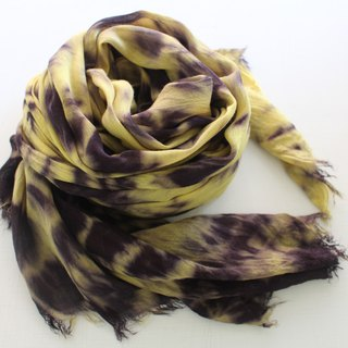 Free stained isvara stained vegetation gradient series of pure cotton scarf demo