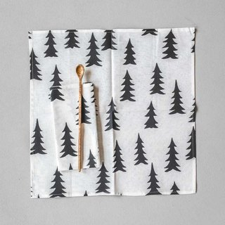 Nordic style designer – fir napkins second (black) Gran Napkins 2-pack, Svart