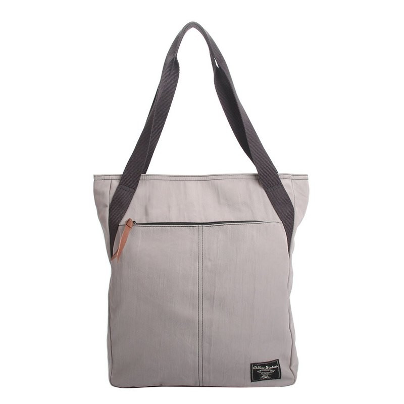 Pure Light grey purple nylon shoulder bag