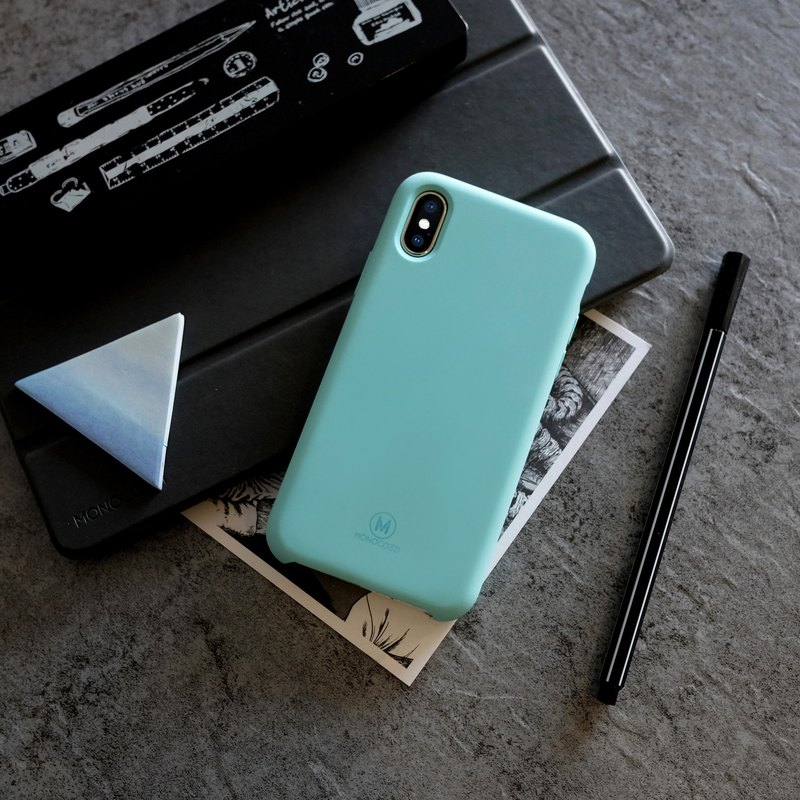 GRITTY | Liquid Silicon Stain Resistant Case for iPhone X  - Tiffany Blue