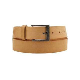 FULLGRAIN │ Italian vegetable tanned leather leather belt 3.5cm - ancient silver gentleman buckle
