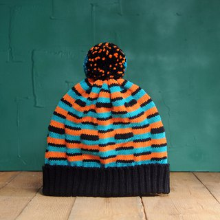 Tropical Fish Detachable PomPom Beanie Hat