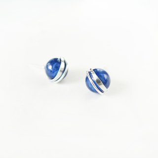 Exclusive pair of natural kyanite earrings earrings in sterling silver