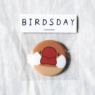 Red bird first type badge / badge / pin / brooch