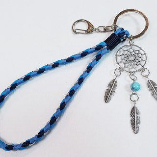 Paris*Le Bonheun. Happy hand made. Dreamcatcher. Wax braided key ring
