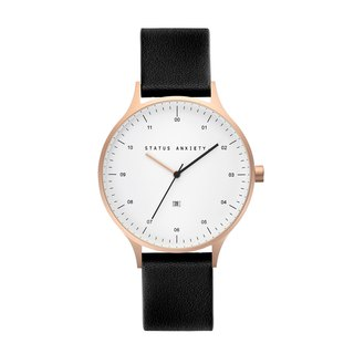 INERTIA Leather Watch_Gold White-Black / Rose Gold White - Twilight Strap