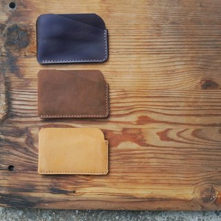 Simple leather business card holder (horizontal) / can be lettering