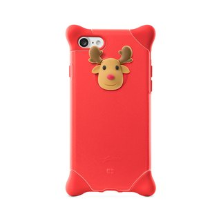 Bone / iPhone 8 / 7 Bubble Protector Case - Elk