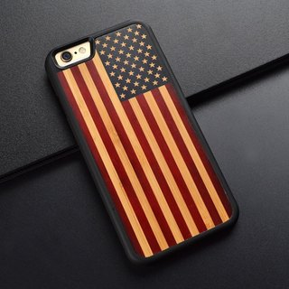iphone 6 S handmade original American flag color phone shell Apple 7 PLUS hand wood protection case