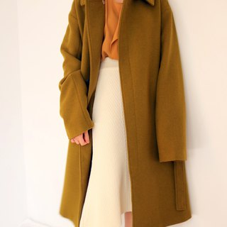 Seoul Coat Mustard Brown Green Windbreaker Wool Coat (Other colors available)