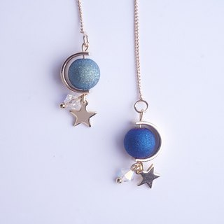 Dream Star River star control gold-plated ear wire can be changed ear hook ear clip original hand made