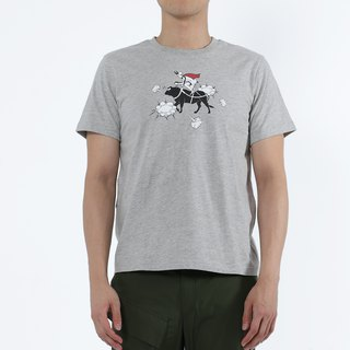 Mad Cow Disease - Cow Knight Print Tee (Twist Grey)