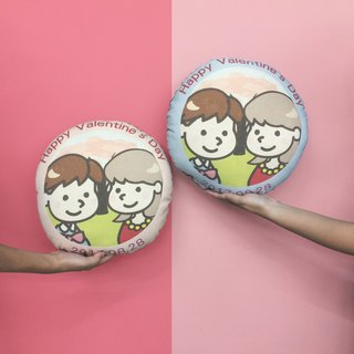 【Customized gifts】 Passenger lunches pillow couple cotton canvas pillow pillow pillow