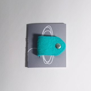Wool felt  Small hubs - blue-green