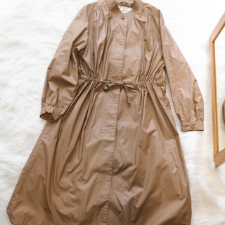 Nagano gray skin bright independent straight log antique thin windbreaker jacket trenchcoat dustcoat