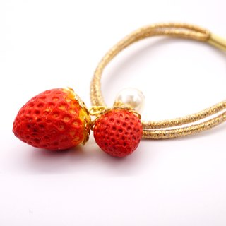 *Playful Design* Strawberry Hair Tie