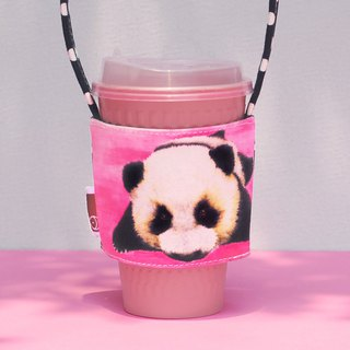 Moe black and white Langjun Panda drink bag