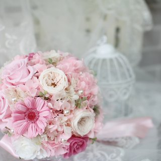 [Pink cotton candy - Wedding flower bouquet] eternal life - eternal flower / dried flower / bouquet jewelry / wedding bouquets Bouquet / Flower Ceremony