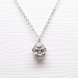 Hairy Silver [Orangutan Kingbee Bichon Silver Necklace]