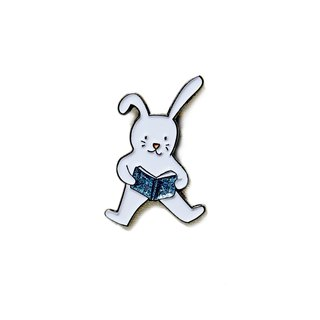 Literacy Rabbit Pin