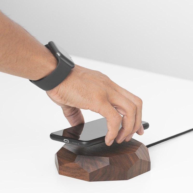 WALNUT QI無線充電器iPhone X無線板,木質無線充電器