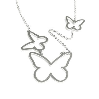 3Steps cute abstract butterfly necklace